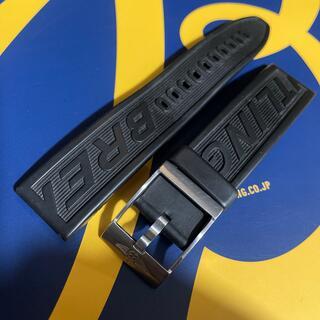 ブライトリング(BREITLING)の22mm サテン BREITLING ブライトリング ロゴ ラバーベルト(ラバーベルト)