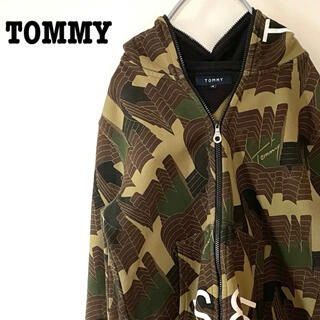 TOMMY - トミー 総柄 幾何学模様 ジップアップパーカー