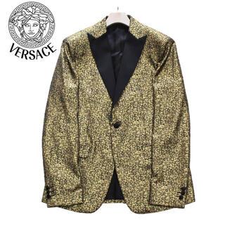ヴェルサーチ(VERSACE)の《ヴェルサーチ》新品 イタリア製 1Bジャケット 羊毛 金 50(XL) (テーラードジャケット)