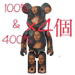 メディコムトイ(MEDICOM TOY)の【100%&400%】BE@RBRICK DE VINCI Mona Lisa(その他)