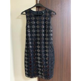 アルマーニ(Armani)の値下げ品 アルマーニ ドレス ブラック スパンコール(ひざ丈ワンピース)