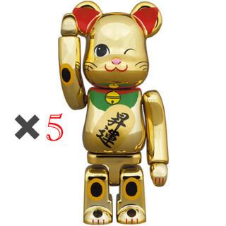 メディコムトイ(MEDICOM TOY)のBE@RBRICK 招き猫 昇運 弐 金メッキ 100%(その他)