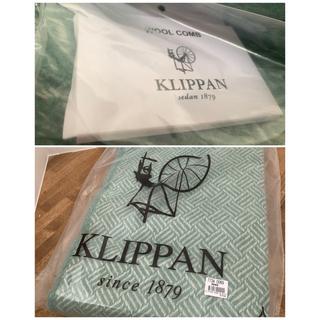 クリッパン(KLIPPAN)の【最終値下げ】ACTUS伊勢丹取扱い☆KLIPPANスローケット130×200緑(毛布)