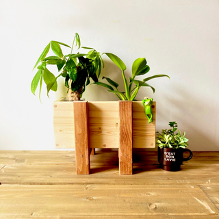プランター スタンド おしゃれ 木製 フラワーラック プランター台 花台  ミニ(プランター)