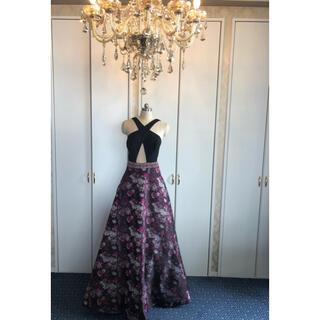 エンジェルアール(AngelR)の今年新作 花柄ロングドレスパーティー二次会披露宴ステージギャバ嬢 ナイトクラブ(ロングドレス)