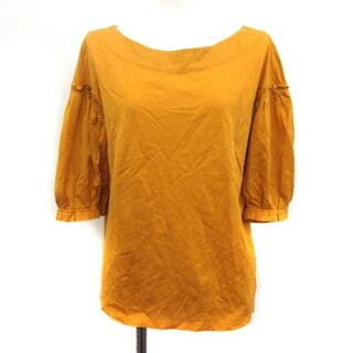 アドーア(ADORE)のアドーア ADORE Tシャツ カットソー 5分袖 38 からし色 マスタード(その他)