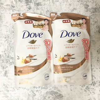 ユニリーバ(Unilever)のダヴ ボディウォッシュ シアバター&バニラ つめかえ用380g×2個(ボディソープ/石鹸)