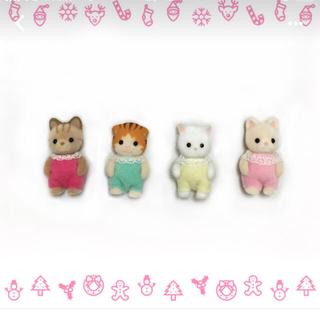 エポック(EPOCH)の新品☆ シルバニアファミリー ネコの赤ちゃん 4匹セット(ぬいぐるみ)
