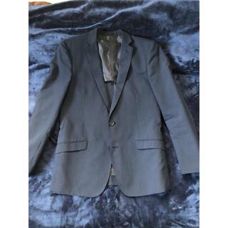 スーツ ジャケット 紺色ストライプ(テーラードジャケット)