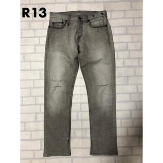 アールサーティーン(R13)のR13 Classic Slim 28 グレー デニム ジーンズ(デニム/ジーンズ)