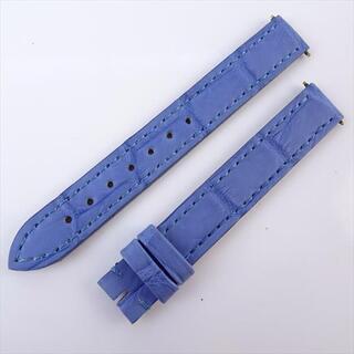 カルティエ(Cartier)のカルティエ Cartier 腕時計用 ベルト 12mm クロコ ライトブルー(レザーベルト)