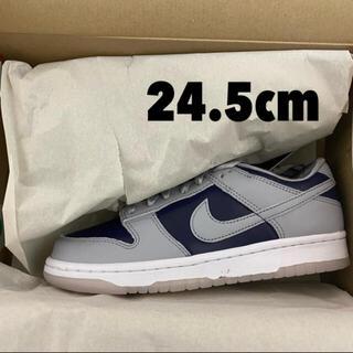 """ナイキ(NIKE)の【24.5cm】Nike Dunk Low """"College Navy""""(スニーカー)"""