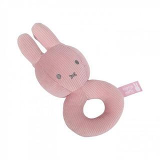 ボンポワン(Bonpoint)の赤ちゃん ガラガラ ラトル 布製リング ピンク リブ Miffy(がらがら/ラトル)