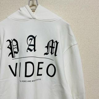 パム(P.A.M.)の一点物 P.A.M  切りっぱなし Video コラージュ プリント パーカー(パーカー)