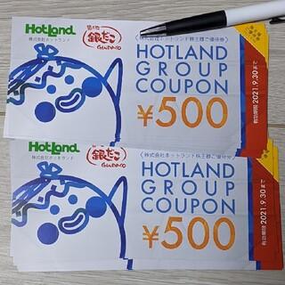 ホットランド株主優待券(銀だこなど)20枚(フード/ドリンク券)