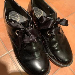 シマムラ(しまむら)のしまむら レディース リボン 厚底 ローファーブーツ 3L(ローファー/革靴)