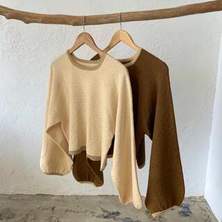 lawgy original spring knit tops アイボリー(ニット/セーター)