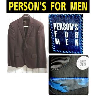 パーソンズ(PERSON'S)のPERSON'S パーソンズ 茶黒 テーラードジャケット VINTAGE 古着(テーラードジャケット)
