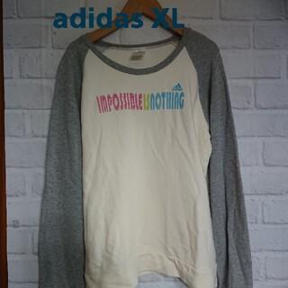 アディダス(adidas)のadidas アディダス 長袖Tシャツ カットソー XL(カットソー(長袖/七分))