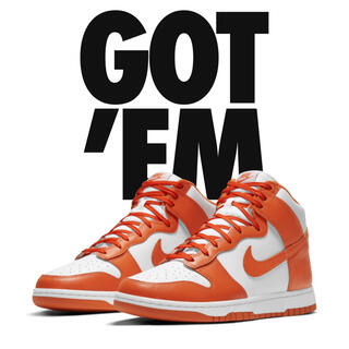 ナイキ(NIKE)のNIKE DUNK HIGH RETRO ORANGE BLAZE 27㎝(スニーカー)