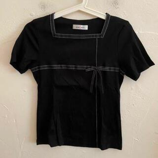 ギャラリービスコンティ(GALLERY VISCONTI)のGALLERYVISCONTI ギャラリービスコンティ ブラウス ブラック 2(シャツ/ブラウス(半袖/袖なし))