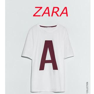ザラ(ZARA)のZARA  イニシャルTシャツ  A   サイズ S(Tシャツ(半袖/袖なし))