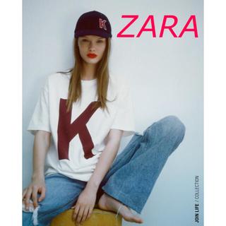 ザラ(ZARA)のZARA イニシャルTシャツ  K  サイズM(Tシャツ(半袖/袖なし))