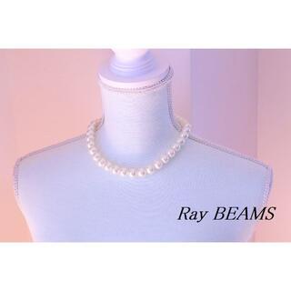 レイビームス(Ray BEAMS)のWA454】Ray BEAMS パール ビーズ 12mm玉 ショート ネックレス(ネックレス)