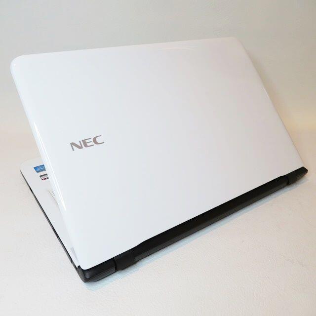 NEC(エヌイーシー)の げん様専用【超綺麗なホワイト】薄型/WEBカメラ/NEC/ノートパソコン スマホ/家電/カメラのPC/タブレット(ノートPC)の商品写真