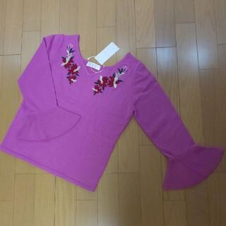 アンドクチュール(And Couture)の新品未使用♪アンドクチュール花柄刺繍トップス♪(ニット/セーター)