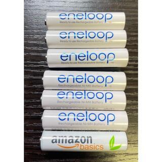 サンヨー(SANYO)のeneloop 単四電池 7本セット【SANYO amazon basics(バッテリー/充電器)