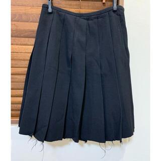 コムデギャルソン(COMME des GARCONS)のローブドシャンブル 切りっぱなしプリーツスカート(ひざ丈スカート)