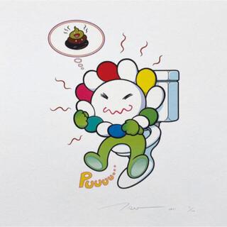 村上隆 新作エディションサイン版画 Puuuu ED:100(版画)