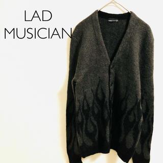 ラッドミュージシャン(LAD MUSICIAN)のLAD MUSICIAN モヘア ニット カーディガン ファイヤーパターン(カーディガン)