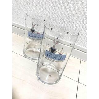トウヨウササキガラス(東洋佐々木ガラス)の昭和レトロ 佐々木硝子 花柄 ペアグラス 新品未使用 美品 !(グラス/カップ)