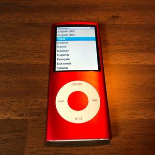 iPod - ipod nano 第4世代 (PRODUCT)red 8GB