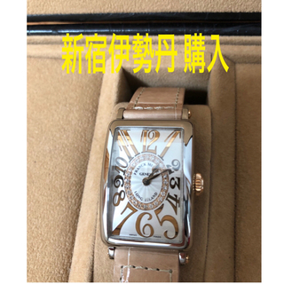 フランクミュラー(FRANCK MULLER)のえりさ様専用!  新宿伊勢丹購入ダイヤ入りフランクミュラー ロングアイランド(腕時計)