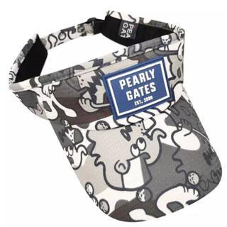 パーリーゲイツ(PEARLY GATES)のパーリーゲイツ サンバイザー 帽子 キャップ 迷彩 柄(サンバイザー)