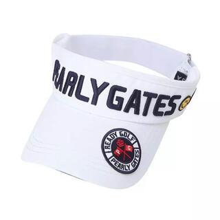 パーリーゲイツ(PEARLY GATES)のパーリーゲイツ サンバイザー 帽子 キャップ 白 ホワイト(サンバイザー)