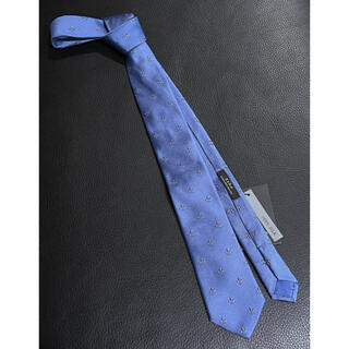 ザラ(ZARA)の未使用 ZARA ネクタイ 織り柄 ブルー系(ネクタイ)