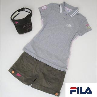 フィラ(FILA)の【3点セット】◆FILA◆ ポロシャツ ショートパンツ サンバイザー(ウエア)