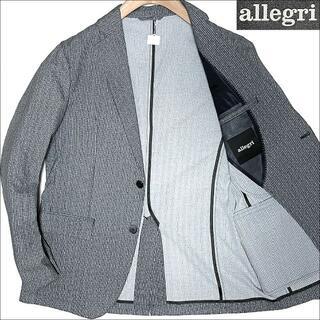 アレグリ(allegri)のJ5080 美品 アレグリ トラベルジャケット チャコールグレー 48L(テーラードジャケット)