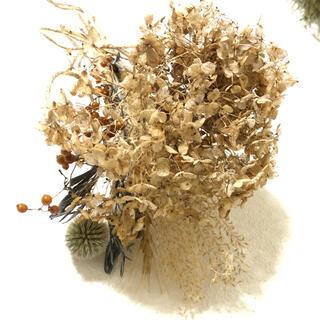 アンティークな紫陽花のスワッグ  ブーケ ドライフラワー 自然素材 V (ドライフラワー)