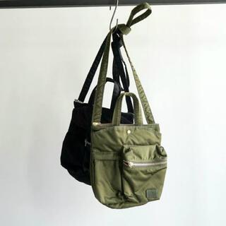 サカイ(sacai)のsacai × porter pocket bag large カーキ(ショルダーバッグ)