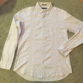 ウェアラバウツ(WHEREABOUTS)のWHEREABOUTS(ウェラアバウツ)長袖シャツ ブルー/サイズ50(シャツ)
