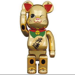 メディコムトイ(MEDICOM TOY)のBE@RBRICK 招き猫 金メッキ 昇運 弐 400% ベアブリック(その他)