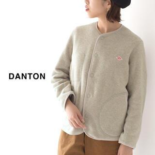 DANTON - DANTON(ダントン)  ノーカラーフリースカーディガン