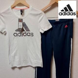 adidas - adidas 二枚セット レディース Lサイズ アディダス 上下 シャツ パンツ