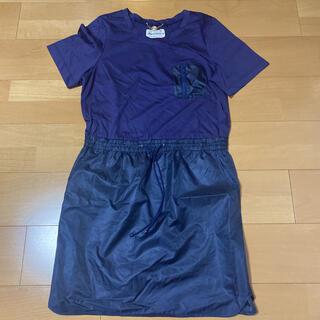 ミュベールワーク(MUVEIL WORK)のミュベールmuveil美品Tシャツワンピース(ひざ丈ワンピース)