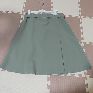 ATTRANGS ベルト付きフレアスカート(ひざ丈スカート)